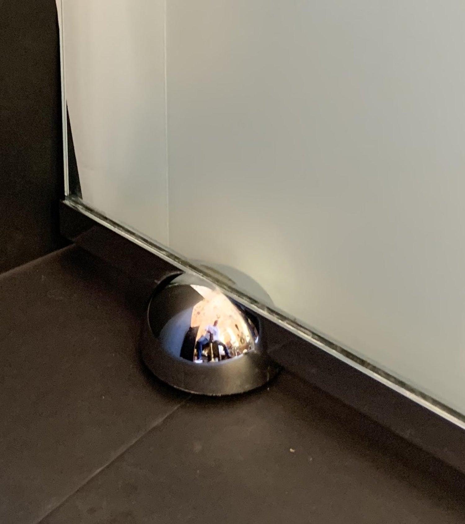 Wonderful Mid Century Modern Glass Polished Nickel Fireplace Fire
