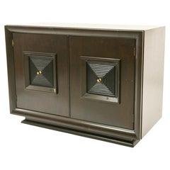 Wonderful Mid-Century Modern Lorin Marsh Geometric Pyramid Double Door Cabinet