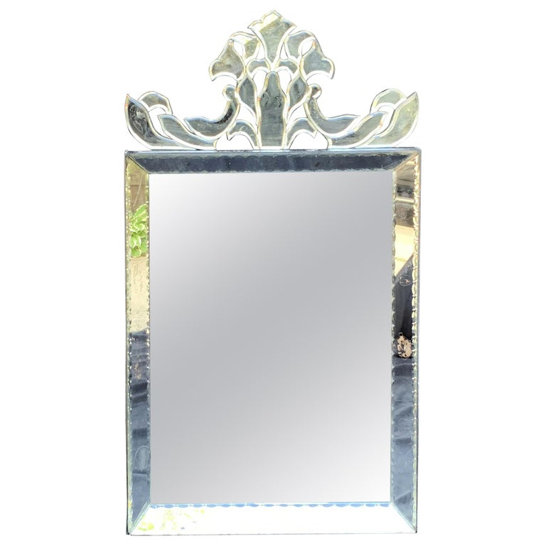 Wonderful Mid-Century Modern Venetian, Italian Mirror For Sale
