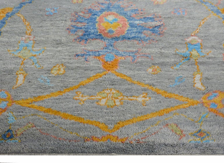 Contemporary Wonderful Modern Turkish Tulu Rug For Sale