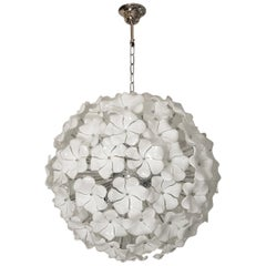 Wonderful Murano Glass Flowers Chandelier Cenedese Style