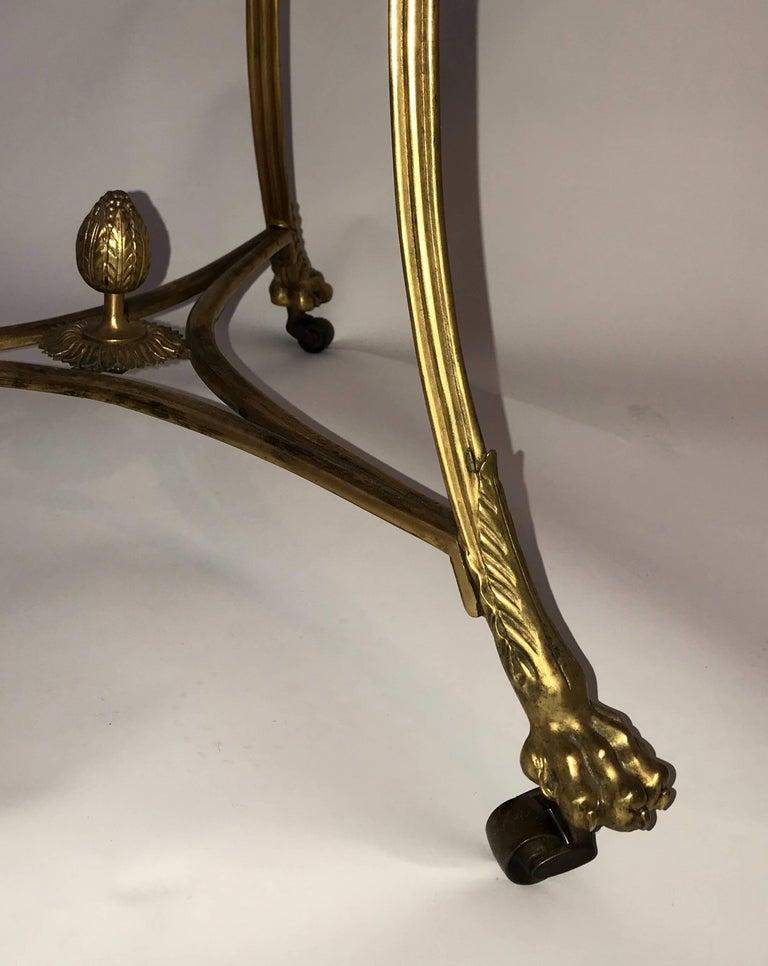 Belgian Black Marble Wonderful Neoclassical Bronze Ormolu Gilt Black Marble Louis XVI Gueridon Table For Sale