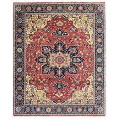 Wonderful New Persian Heriz Design Fine Indian Rug