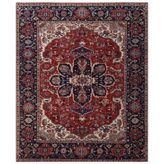 Wonderful New Persian Heriz Design Indian Fine Rug