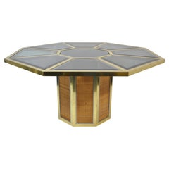 Wonderful Octagonal Table, Design Romeo Rega, Italy, 1970
