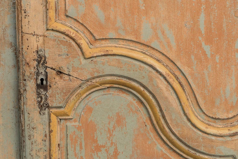 Original paint and patina on this fabulous Provincial armoire.