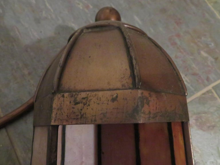Wonderful Pair Art Deco Tiffany Style Bronze Picture Light for Art Illumination For Sale 1
