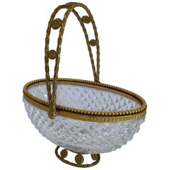 pair of small decorative flat wire baskets at 1stdibs.htm crystal baskets 201 for sale on 1stdibs  crystal baskets 201 for sale on 1stdibs