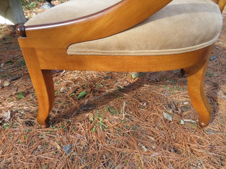 Wonderful Pair of Michael Taylor for Baker Spoon Back Neoclassical Chairs For Sale 4