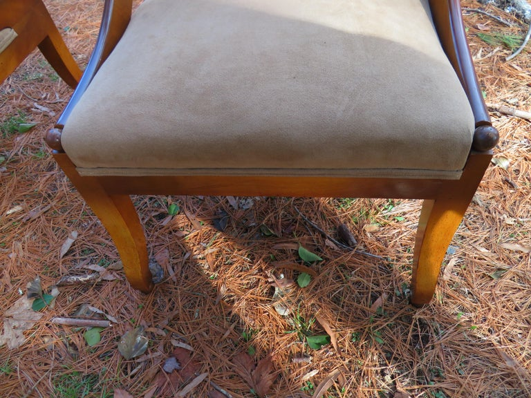 Wonderful Pair of Michael Taylor for Baker Spoon Back Neoclassical Chairs For Sale 6