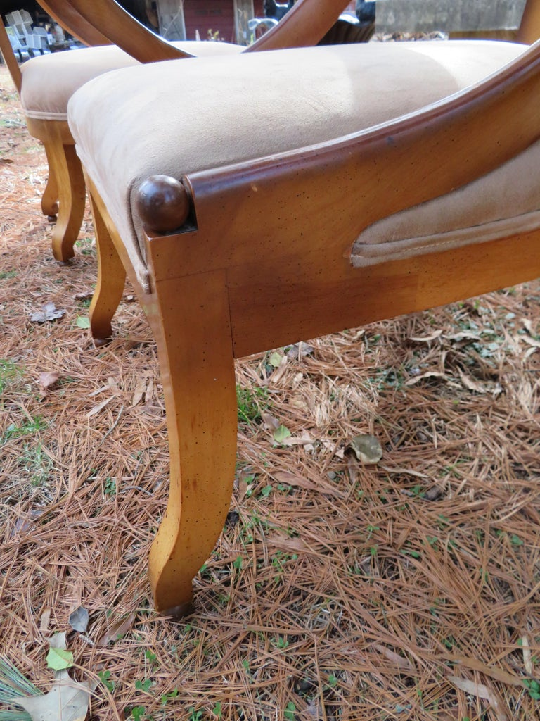 Wonderful Pair of Michael Taylor for Baker Spoon Back Neoclassical Chairs For Sale 10