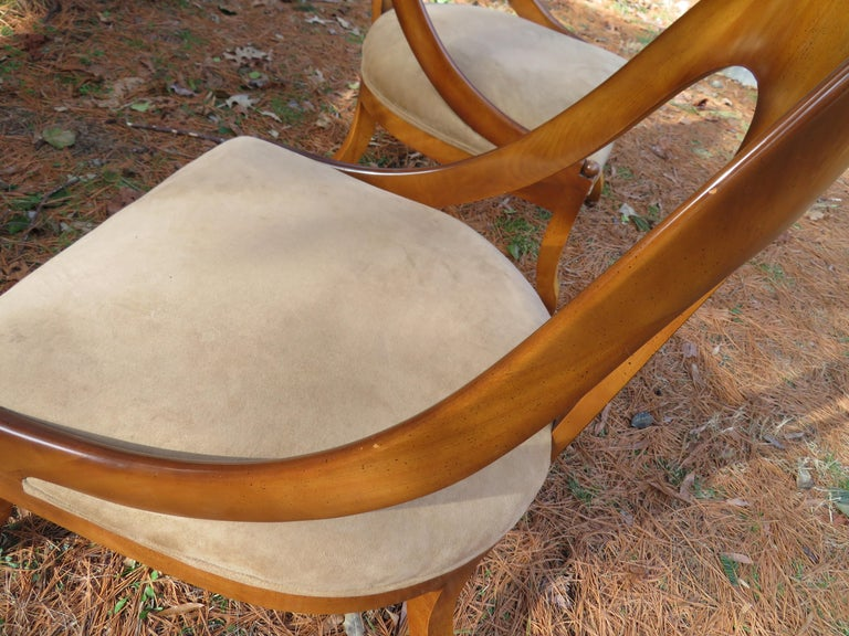 Wonderful Pair of Michael Taylor for Baker Spoon Back Neoclassical Chairs For Sale 2