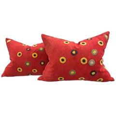 Wonderful Pair of Vintage Uzbek Pillows