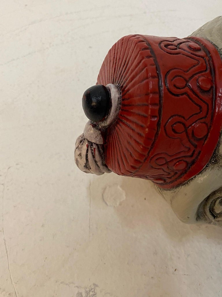 Mid-20th Century Wonderful Pair of Whimsical Monkey Motife End Tables Coffee Table For Sale