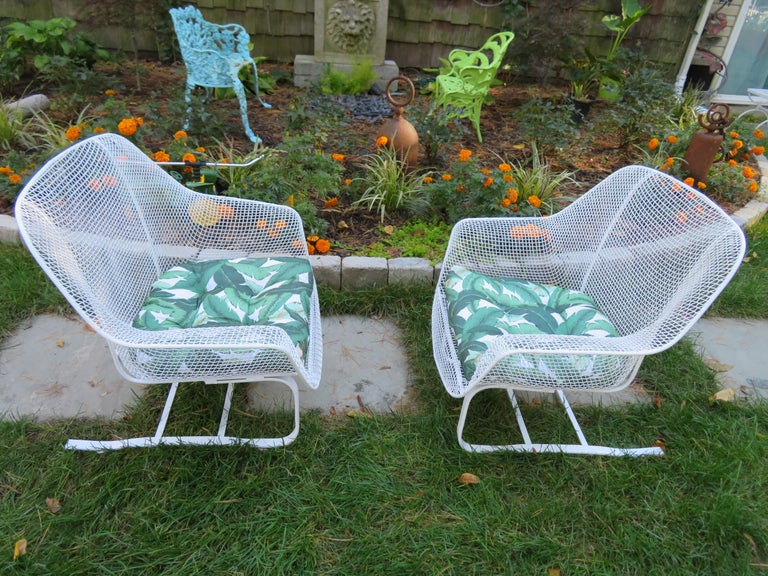 Pair of Russell Woodard Sculptura Springer Patio Lounge Chairs Midcentury For Sale 5