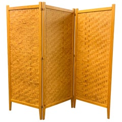 Wonderful Pine Folding Screen Room Divider