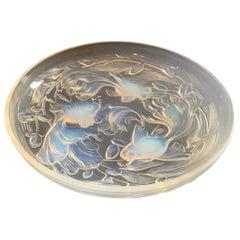 Wonderful Rare Verlys France Poissons Koi Fish Opalescent Centerpiece Large Bowl