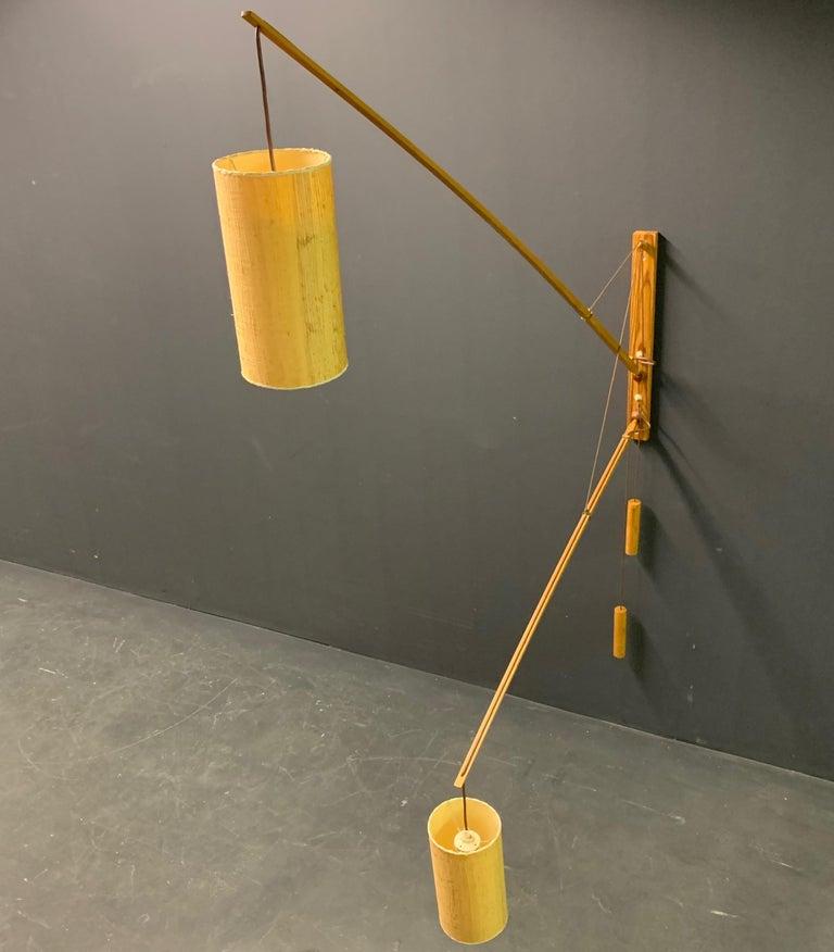 Wonderful Rupprecht Skrip Counter Weight Wall Lamp  For Sale 3