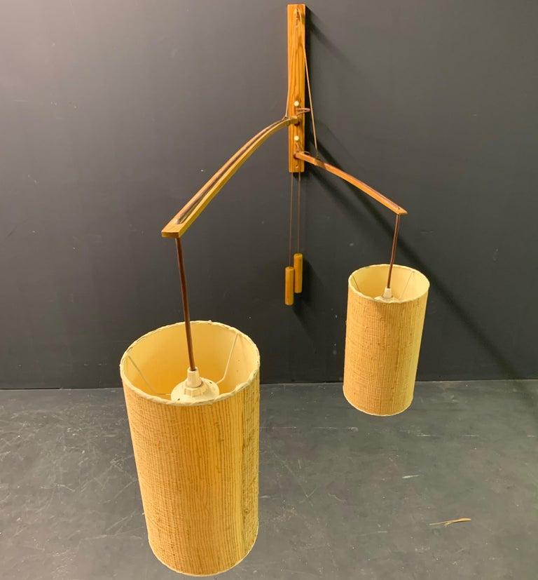 Wonderful Rupprecht Skrip Counter Weight Wall Lamp  For Sale 4