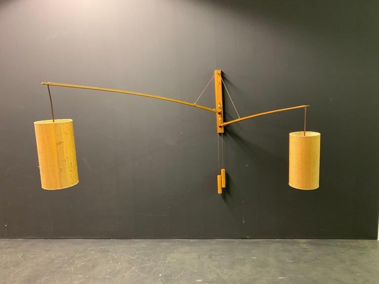 Wonderful Rupprecht Skrip Counter Weight Wall Lamp  For Sale 6