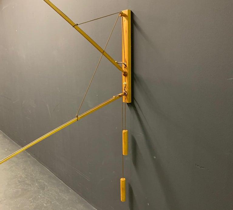 Wonderful Rupprecht Skrip Counter Weight Wall Lamp  For Sale 2