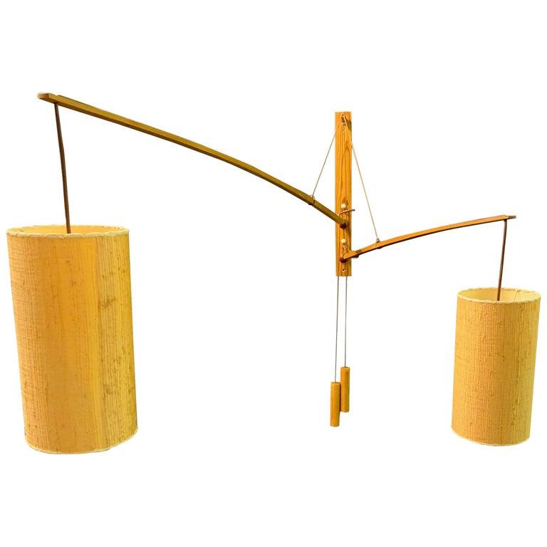 Wonderful Rupprecht Skrip Counter Weight Wall Lamp  For Sale