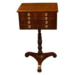 Wonderful Scottish Regency Mahogany Worktable, circa 1820
