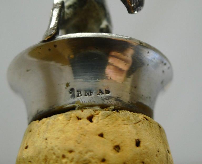 Wonderful Set Austrian Silver Plated Figural Wine/Bottle Corks, circa 1920 For Sale 1