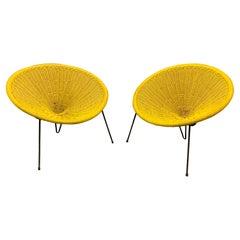Wonderful Set of 2 Cane Lounge Chairs by Roberto Mango
