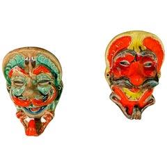 Wonderful Set of 2 Masks or Coathangers