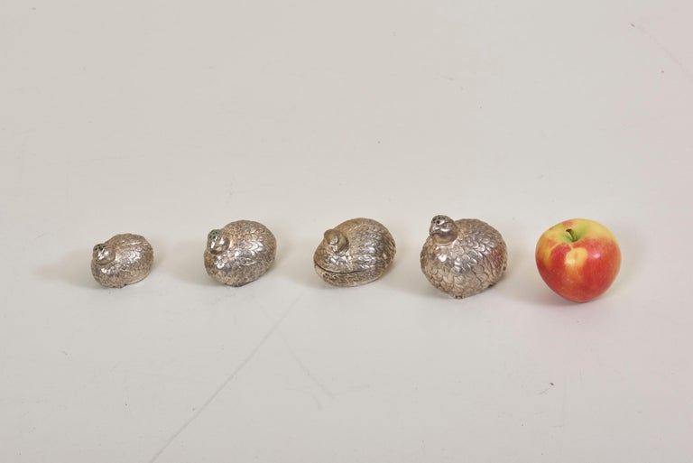 Metal Wonderful Set of Salt and Pepper Shakers and Bowl by Mauro Manetti For Sale
