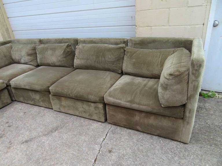 Wonderful Signed Milo Baughman Six Piece Sectional Sofa