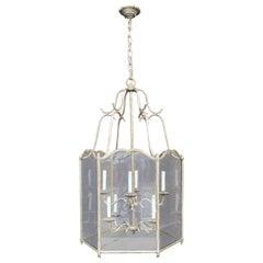 Wonderful Silver Gilt Branch Form Baguès Vaughn Large Lantern Pendent Fixture