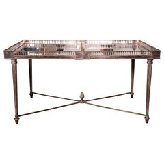 Wonderful Silver Mirrored Top Coffee Table