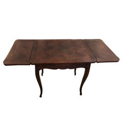 Wonderful Small Marquetry Walnut Refractory Table