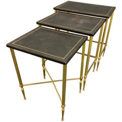 "Wonderful ""Soleil"" Nesting Tables by Maison Charles"