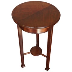 Wonderful Solid Mahogany Art Deco Pedestal Table and Sculpture Stand circa 1920