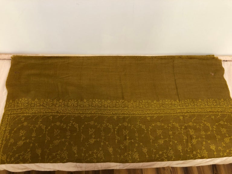 Wonderful Cashmere Hand Embroidered and Signed Shawl 78