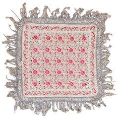 Wonderful Square Silk Manila Shawl Embroidered