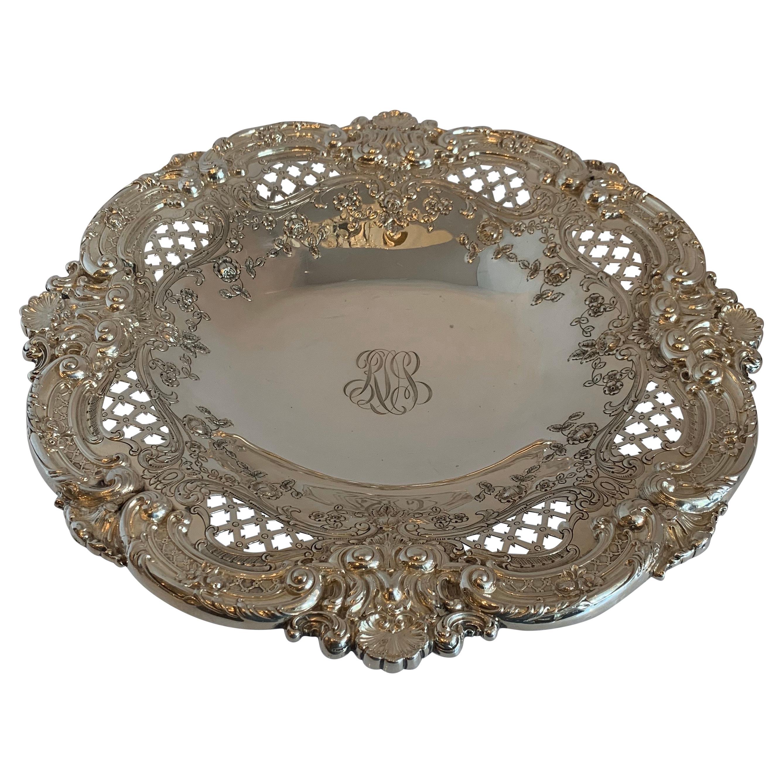 Wonderful Sterling Silver Meriden Britannia Company Pierced Centerpiece Bowl
