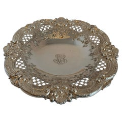 Wonderful Sterling Silver Meriden Britannia Company Pierced Centerpiece Bowl