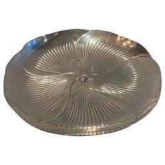 Wonderful Tiffany Sterling Silver Flower Swirl Bowl Platter Centerpiece Plate