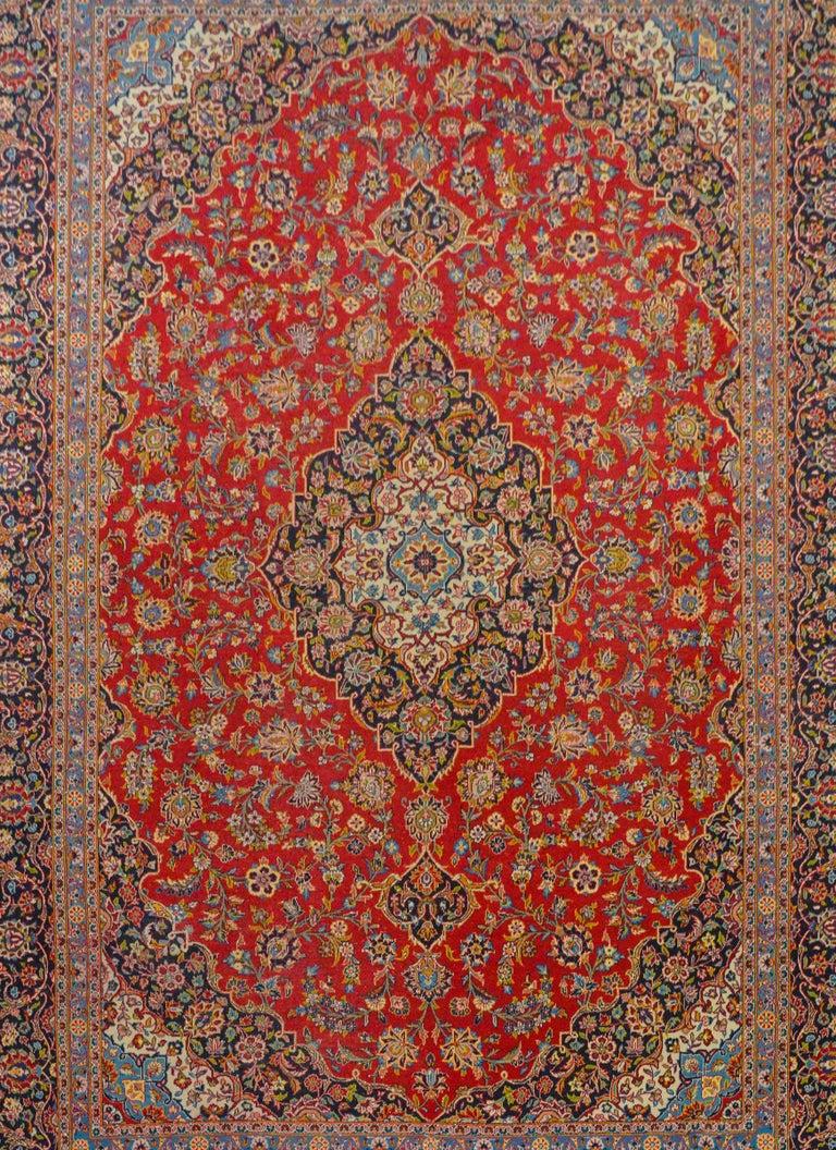 Persian Wonderful Traditional Kashan Rug For Sale