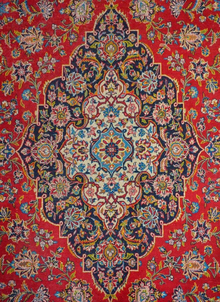 Vegetable Dyed Wonderful Traditional Kashan Rug For Sale