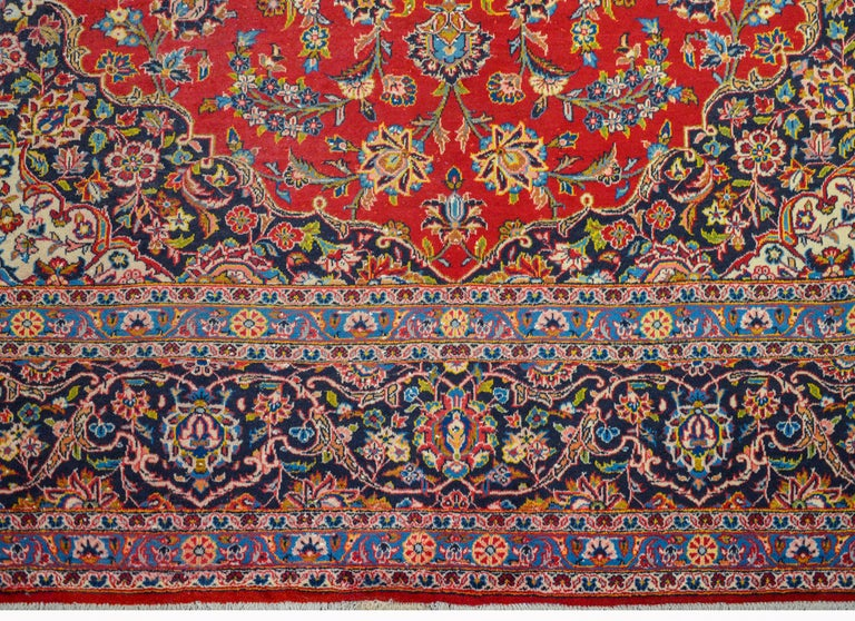 Mid-20th Century Wonderful Traditional Kashan Rug For Sale
