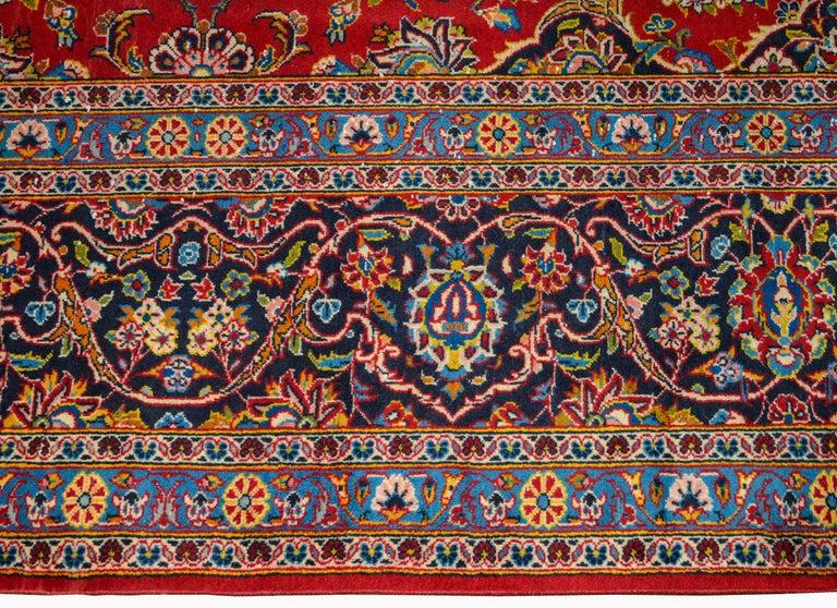 Wool Wonderful Traditional Kashan Rug For Sale