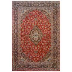 Wonderful Traditional Kashan Rug