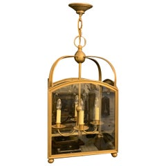 Wonderful Vaughan Designs Regency Square Large Bronze Glass Lantern Fixture