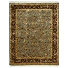 Wonderful Very Fine Luxurious New Silk and Wool Indian Persian Design Rug