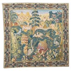 Wonderful Vintage Aubusson Style French Hand Printed Robert Four Tapestry